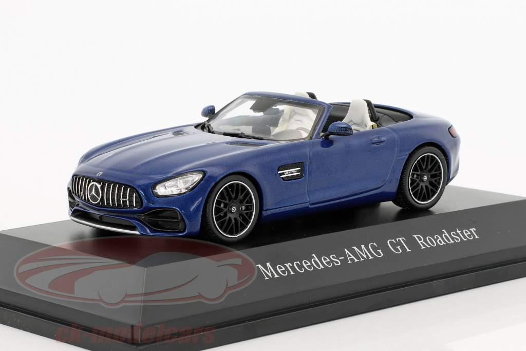 Mercedes-Benz AMG GT Roadster ano de construção 2017 brilhante azul metálico 1:43 Spark