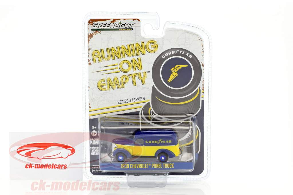 Chevrolet Panel Truck année de construction 1939 bleu / jaune 1:64 Greenlight