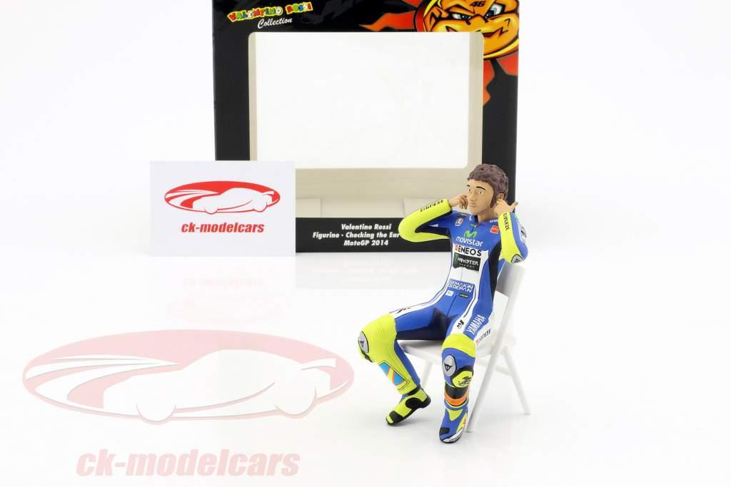 Valentino Rossi cifra verifica il orecchio spine MotoGP 2014 1:12 Minichamps