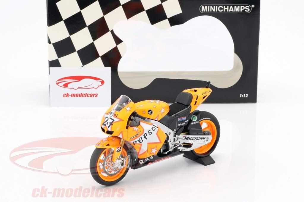 Casey Stoner Honda RC212V #27 gagnant Aragon GP champion du monde MotoGP 2011 1:12 Minichamps