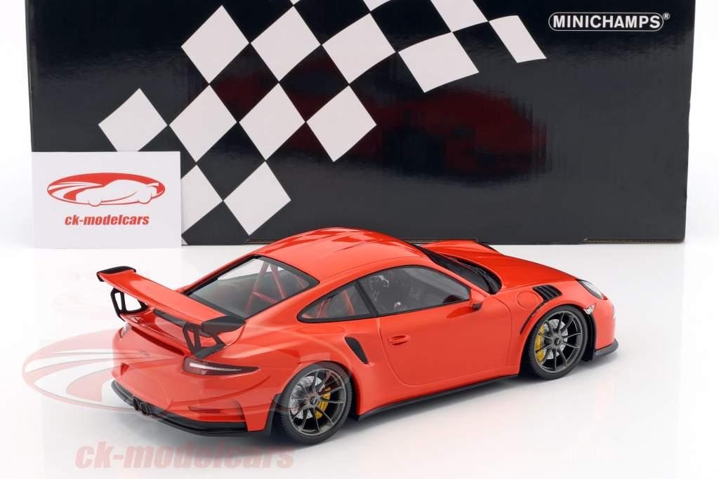 Porsche 911 (991) GT3 RS anno di costruzione 2015 lava arancione 1:18 Minichamps