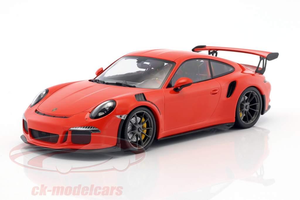 Porsche 911 (991) GT3 RS année de construction 2015 lave orange 1:18 Minichamps