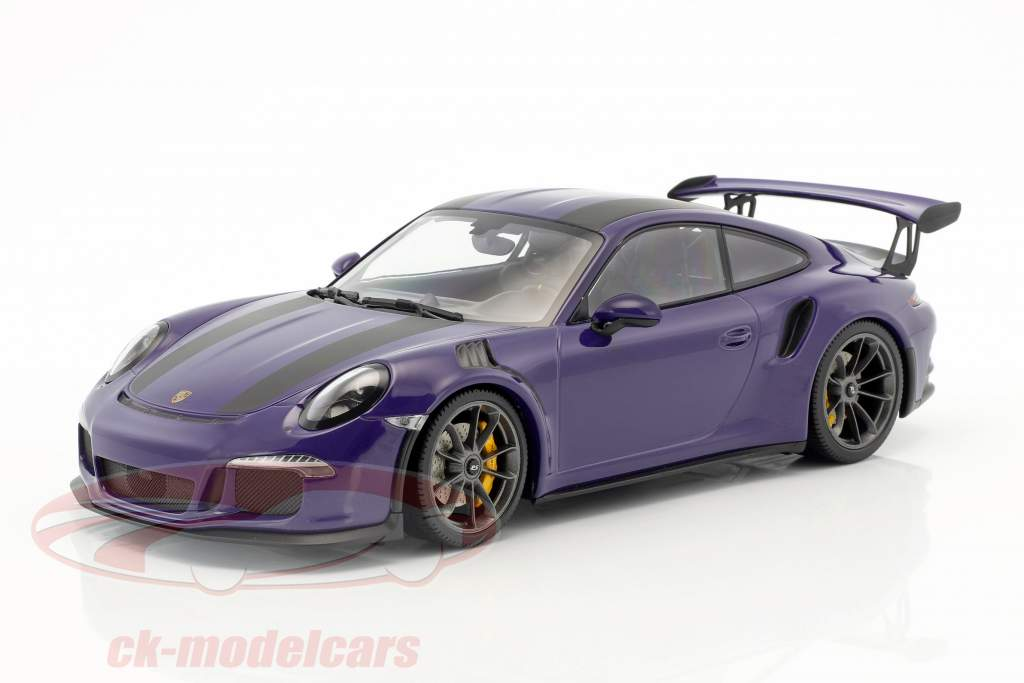 Porsche 911 (991) GT3 RS anno di costruzione 2015 ultravioletto con nero strisce 1:18 Minichamps