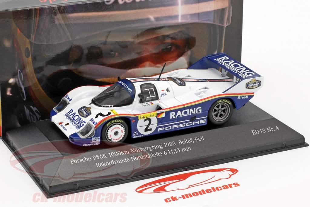 Porsche 956K #2 giro record Nordschleife 6.11,13 min 1000km Nürburgring 1983 Bellof, Bell 1:43 CMR