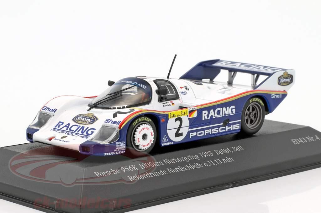 Porsche 956K #2 rekord skødet Nordschleife 6.11,13 min 1000km Nürburgring 1983 Bellof, Bell 1:43 CMR
