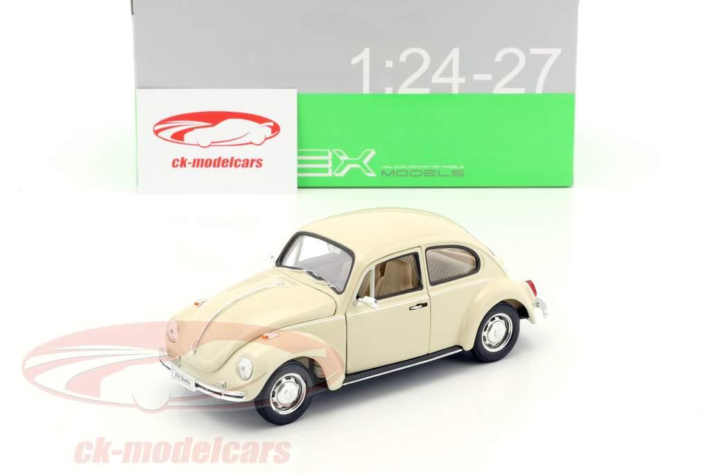 Volkswagen VW Beetle cream white 1:24 Welly