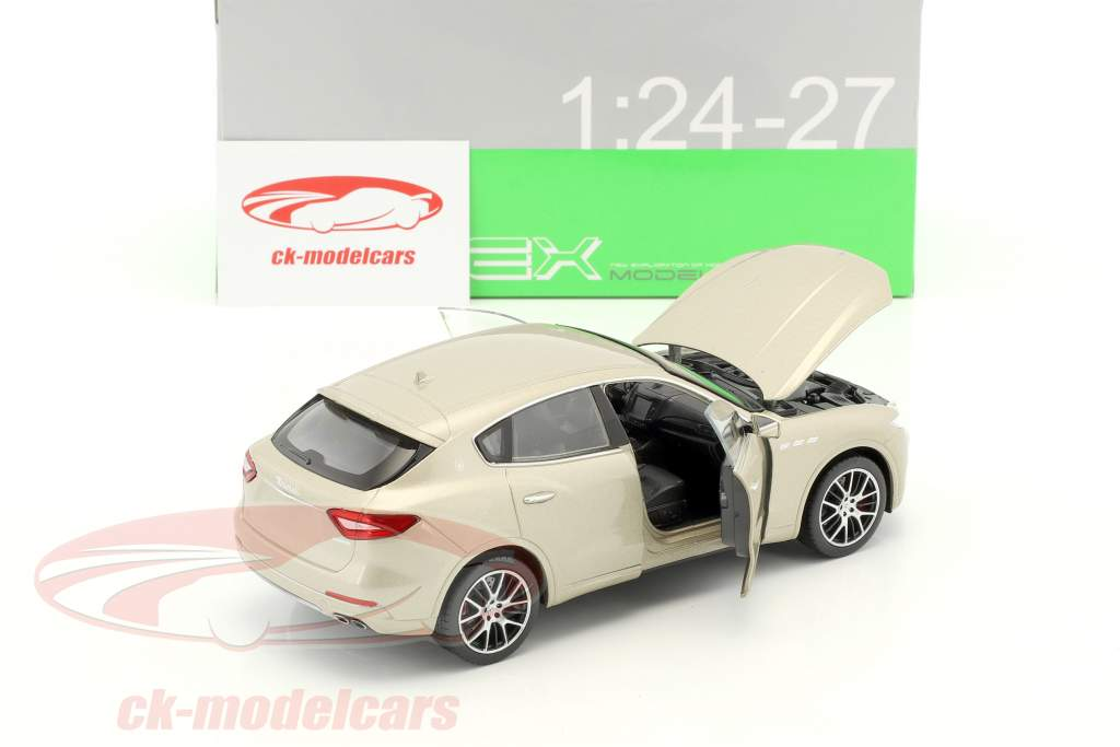 Maserati Levante year 2017 gold 1:24 Welly