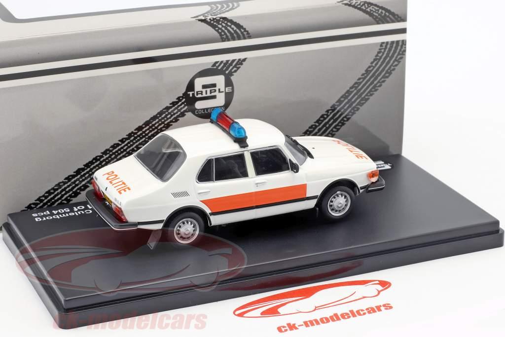 Saab 99 Gemeente Politie Culemborg year 1983 white / orange 1:43 Triple9