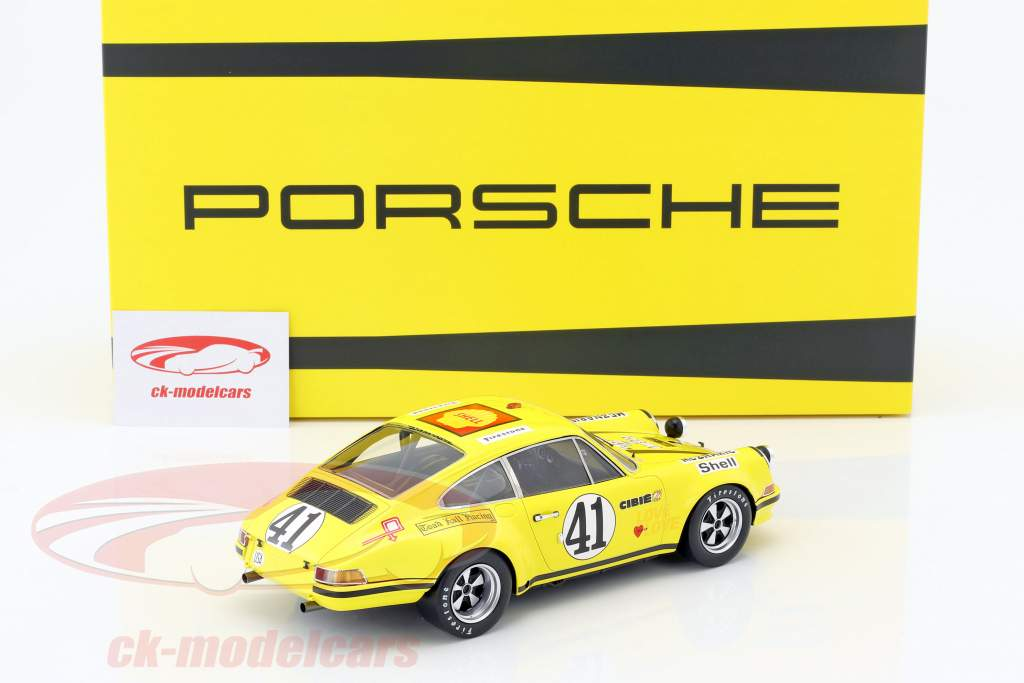 Porsche 911 S/T 2.5 coupe #41 24h LeMans 1972 Toad Hall Racing 1:18 Spark