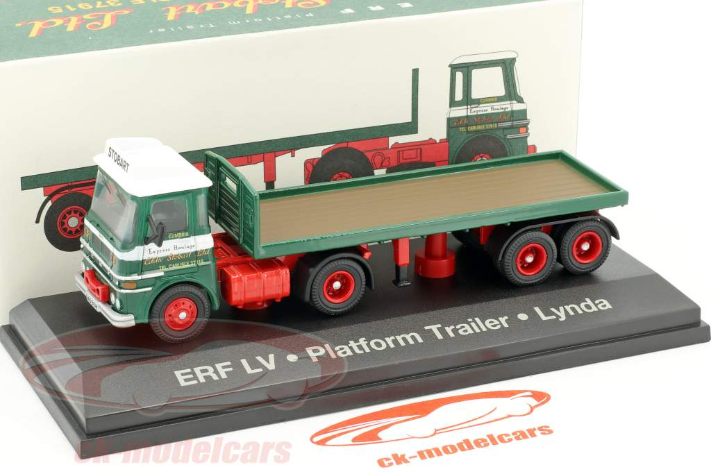 ERF LV Platform Trailer Lynda Stobart vert / blanc 1:76 Atlas