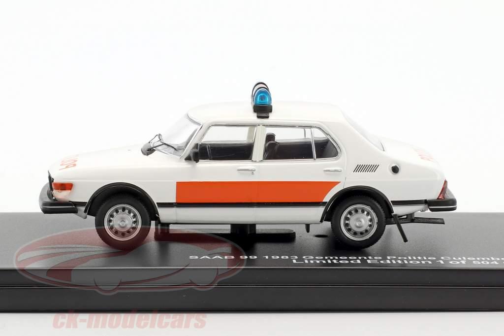 Saab 99 Gemeente Politie Culemborg Baujahr 1983 weiß / orange 1:43 Triple9