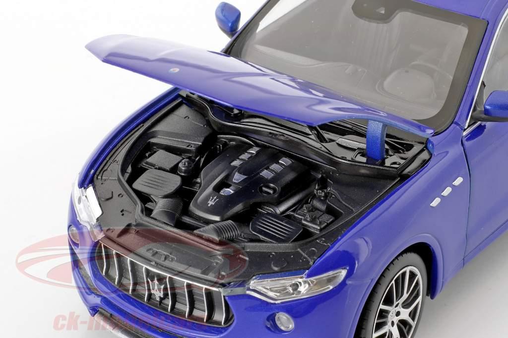 Maserati Levante año de construcción 2017 azul 1:24 Welly
