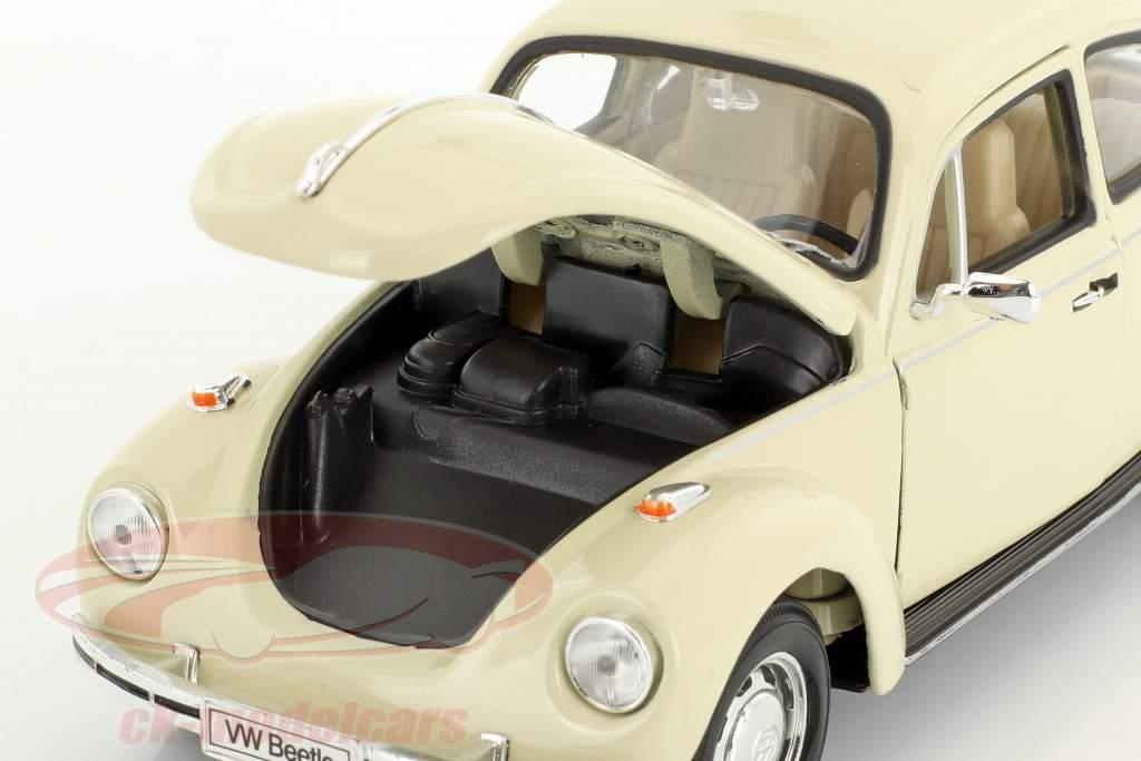 Volkswagen VW Käfer creme weiß 1:24 Welly