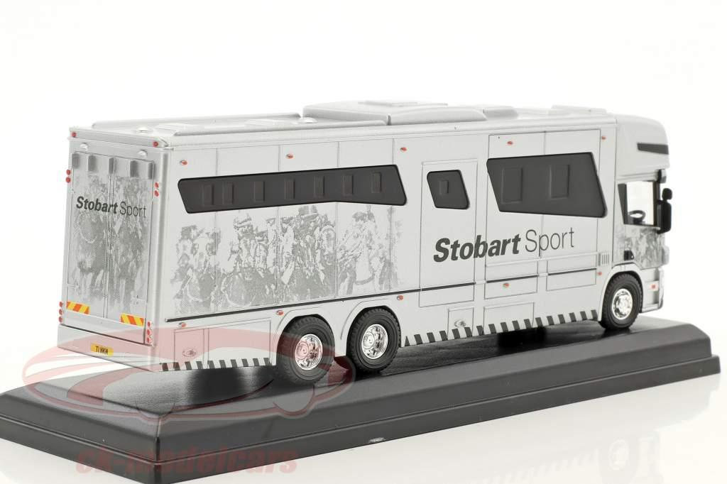 Scania P380 Oakley Horsebox Ally Stobart Sport white 1:76 Atlas