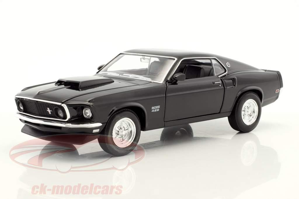 Ford Mustang Boss 429 année de construction 1970 noir 1:24 Welly