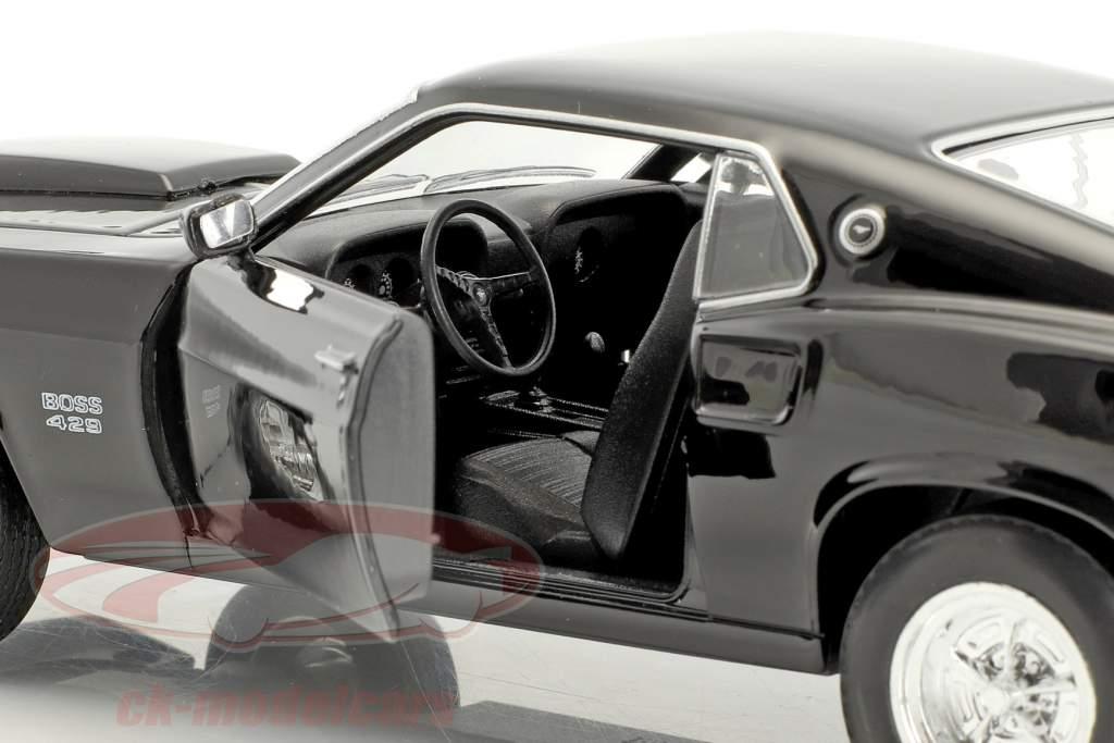 Ford Mustang Boss 429 año de construcción 1970 negro 1:24 Welly