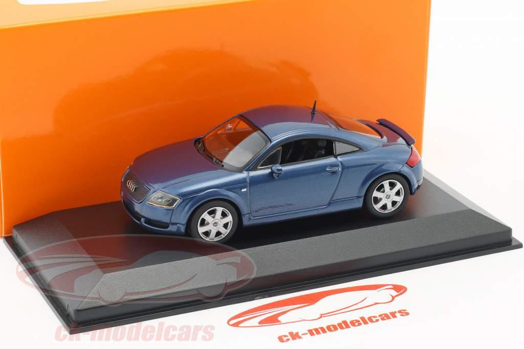 Audi TT coupe año de construcción 1998 azul metálico 1:43 Minichamps