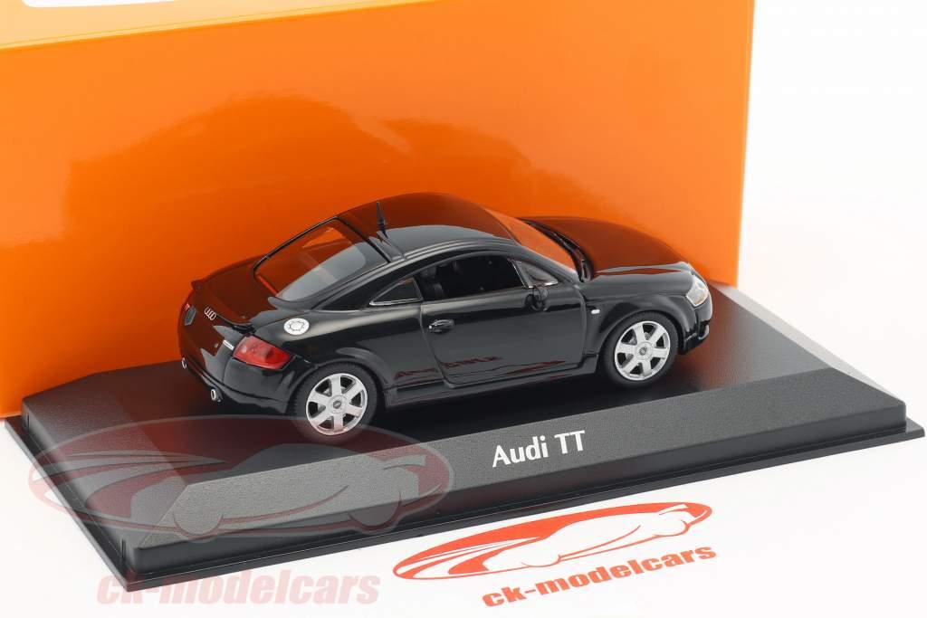 Audi TT coupe ano de construção 1998 preto 1:43 Minichamps