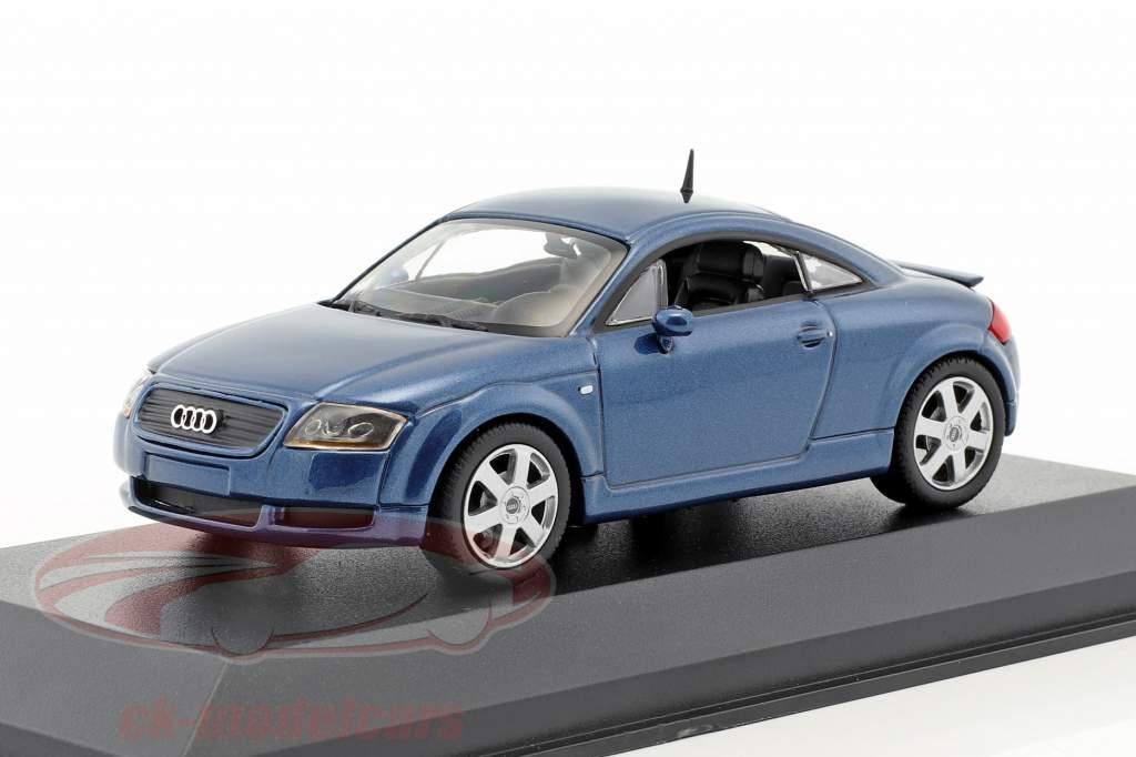 Audi TT coupe Opførselsår 1998 blå metallisk 1:43 Minichamps