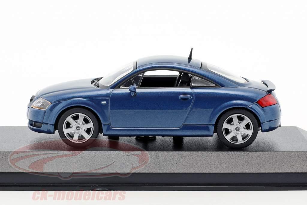 Audi TT coupe Bouwjaar 1998 blauw metalen 1:43 Minichamps