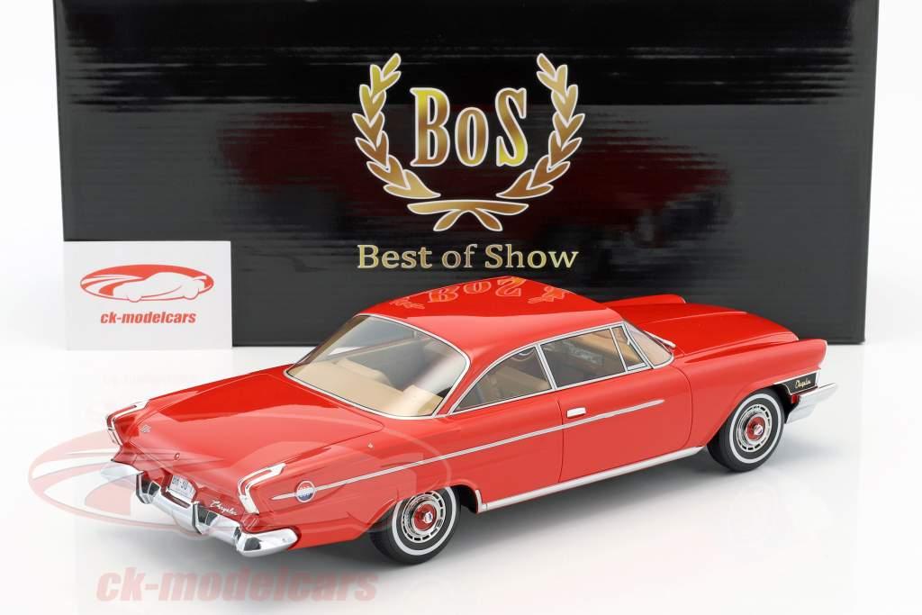 Chrysler 300H Hardtop Red 1962 BOS MODEL 1:18 BOS311 Model
