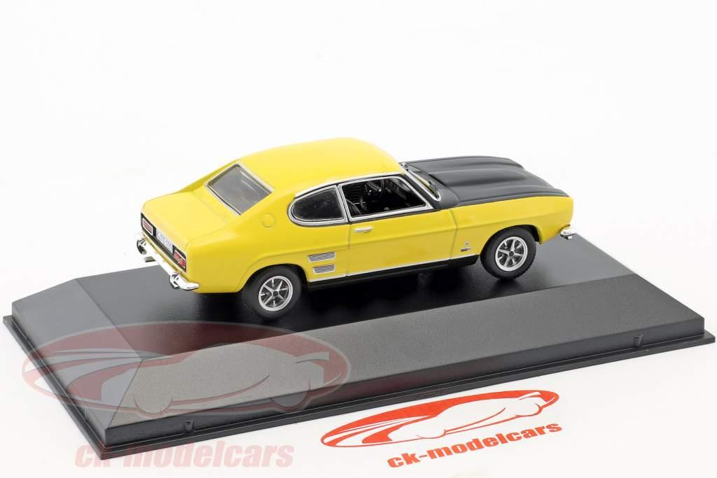 Ford Capri 1700 GT year 1969-1972 yellow / black 1:43 Hachette