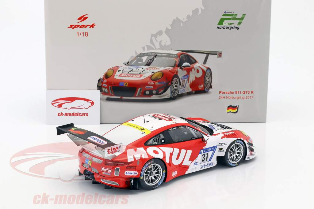 Porsche 911 GT3 R #31 6th 24h Nürburgring 2017 Frikadelli Racing Team 1:18 Spark