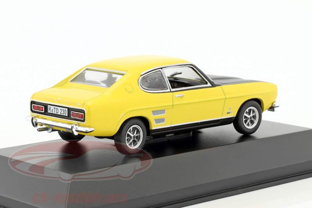 Ford Capri 1700 GT anno di costruzione 1969-1972 giallo / nero 1:43 Hachette