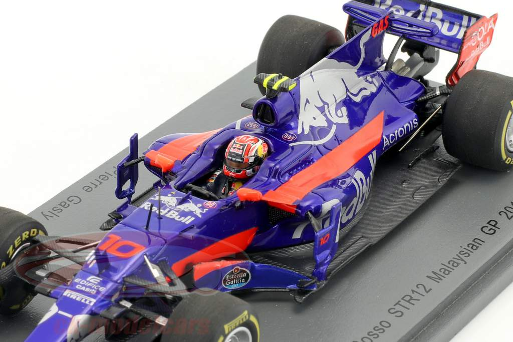 Pierre Gasly Toro Rosso STR12 #10 Malaisie GP formule 1 2017 1:43 Spark