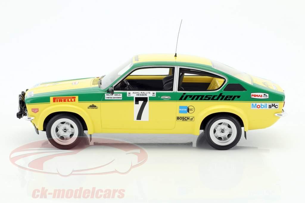 Opel Kadett C GT/E #7 vincitore Rallye Hessen 1976 Smolej, Geistdörfer 1:18 BoS-Models