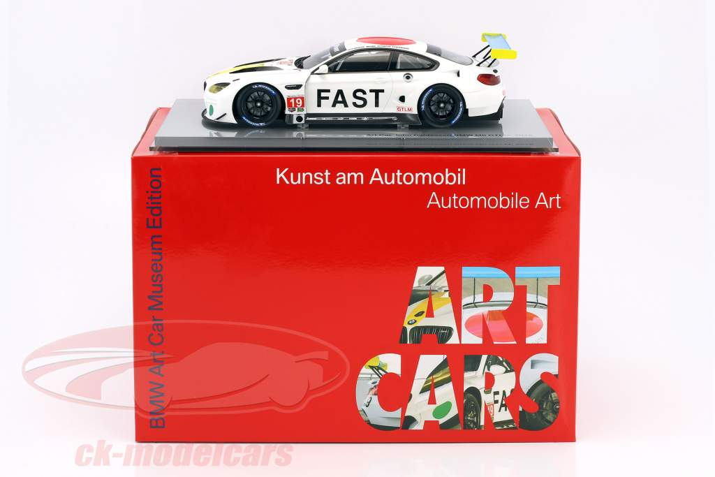 BMW M6 GTLM #19 Art Car John Baldessari with Showcase 1:18 Kyosho