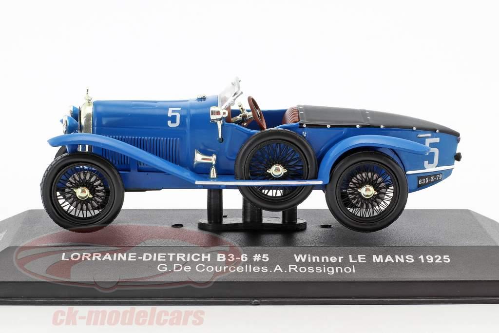 Lorraine-Dietrich B3-6 #5 vincitore 24h LeMans 1925 de Courcelles, Rossignol 1:43 Ixo
