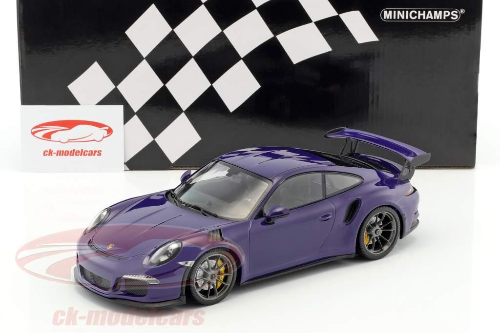 Porsche 911 (991) GT3 RS année de construction 2015 ultra-violet 1:18 Minichamps