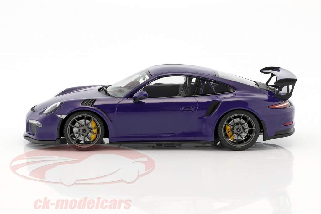 Porsche 911 (991) GT3 RS Baujahr 2015 ultraviolett 1:18 Minichamps