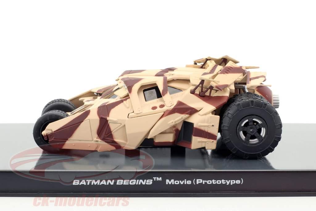 Batman Tumbler film d'animation Batman begins (2005) camouflage 1:43 Altaya