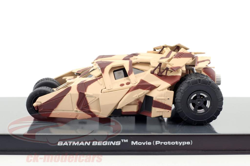Batman Tumbler filme de animação Batman begins (2005) camuflagem 1:43 Altaya