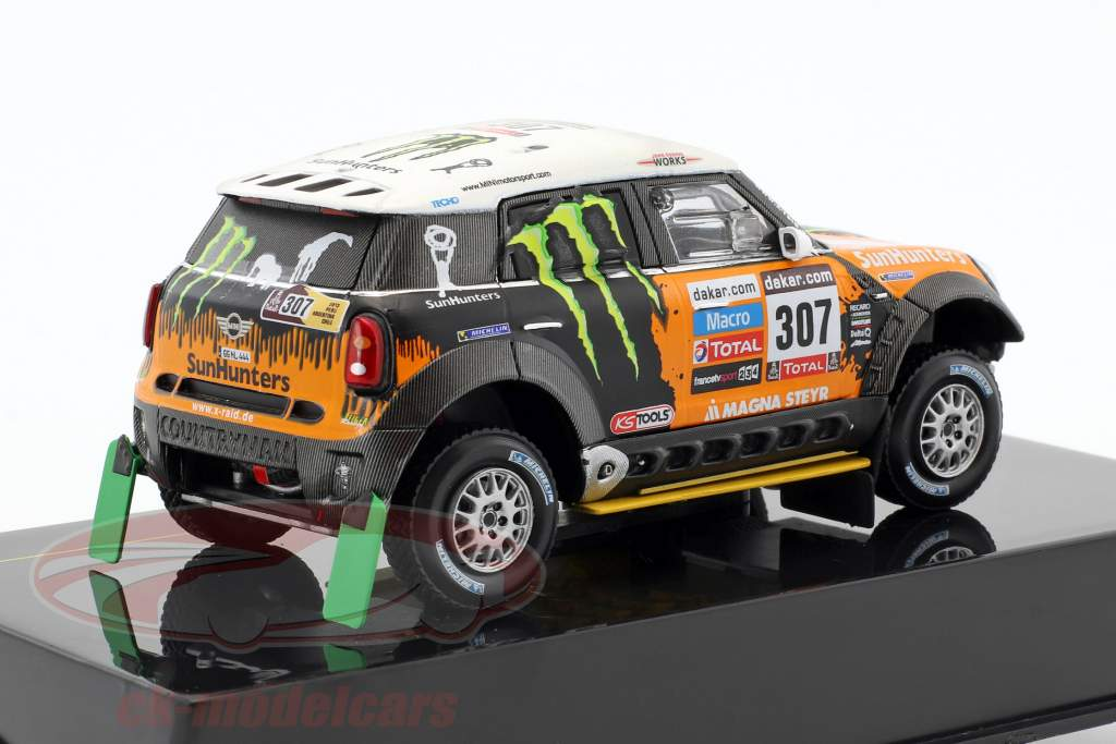 Mini All4 Racing #307 tercero Rallye Dakar 2013 Novitsky, Zhiltsov 1:43 Ixo