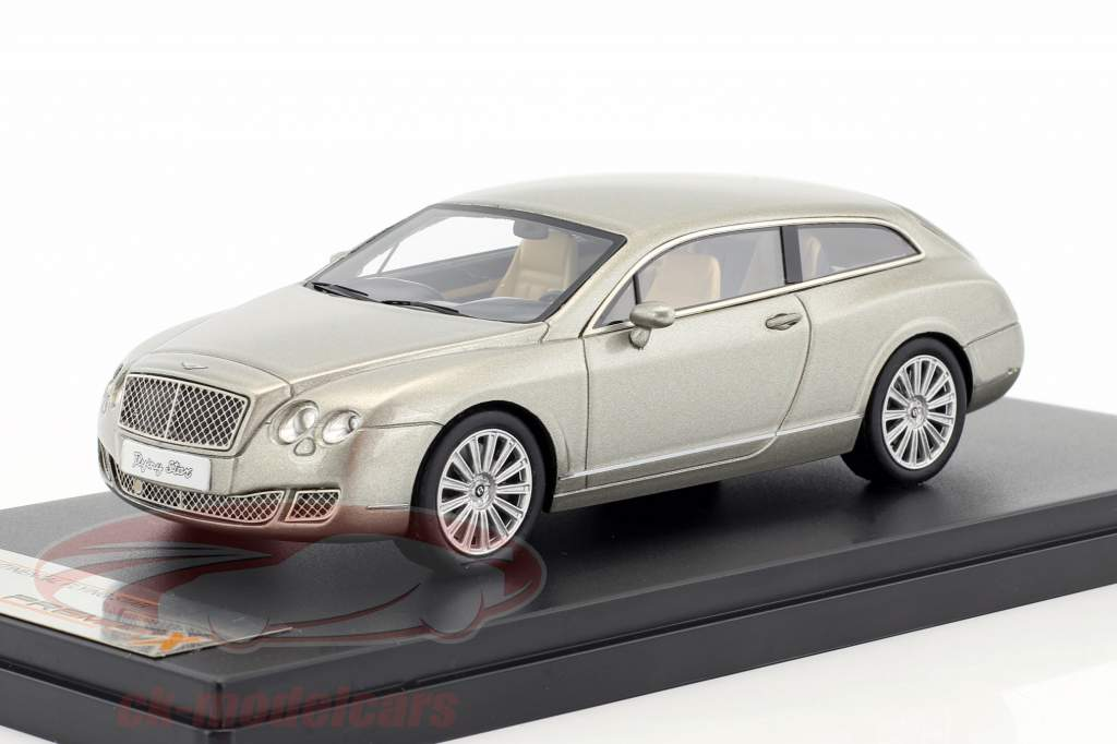 Bentley Continental Flying Star Bouwjaar 2010 grijs metalen 1:43 Premium X