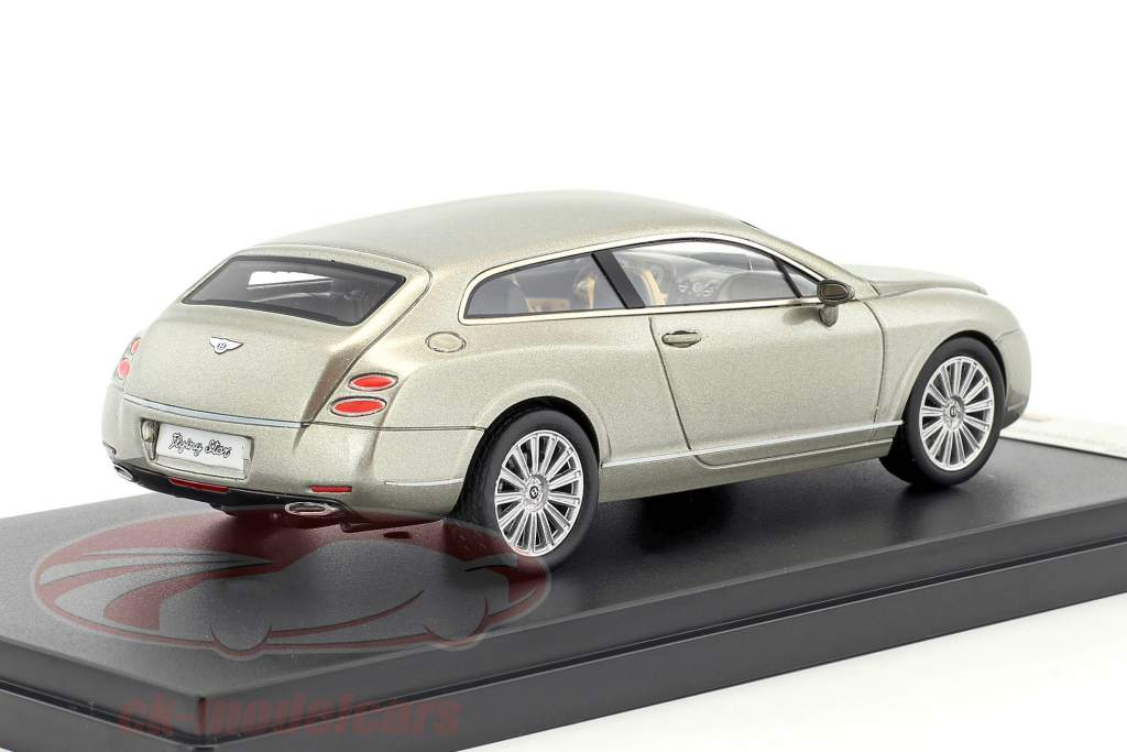 Bentley Continental Flying Star Opførselsår 2010 grå metallisk 1:43 Premium X