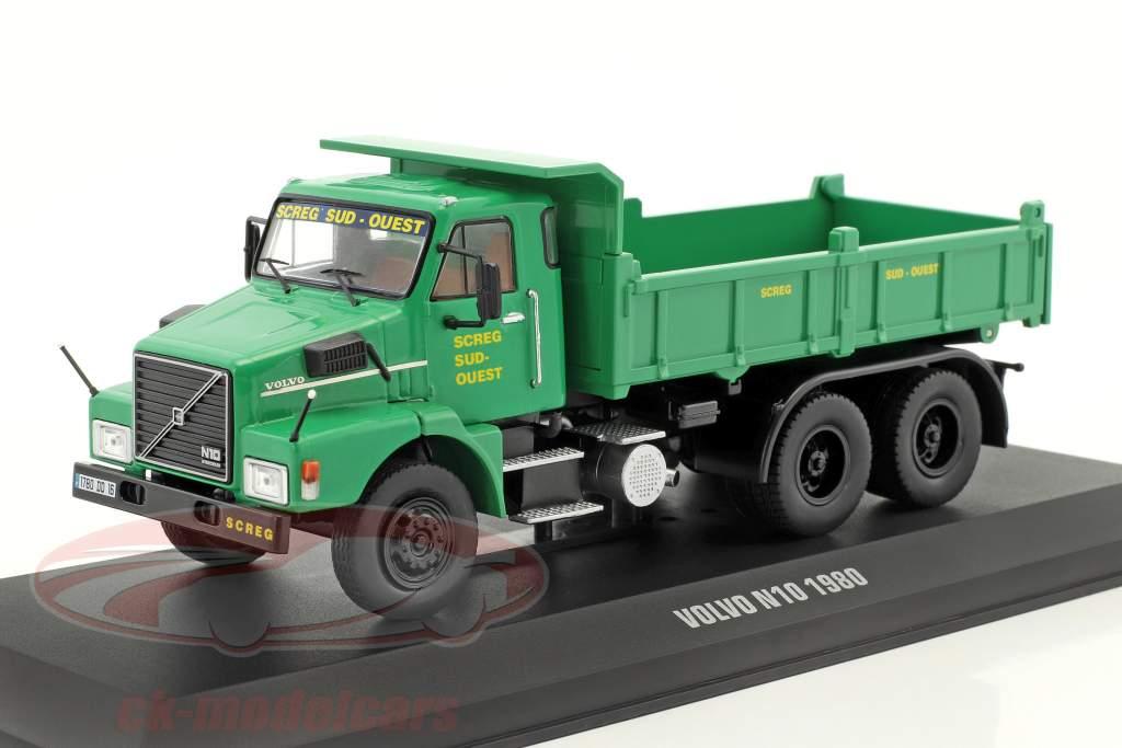 Volvo N10 décharge publique camion SCREG année de construction 1980 vert 1:43 Ixo