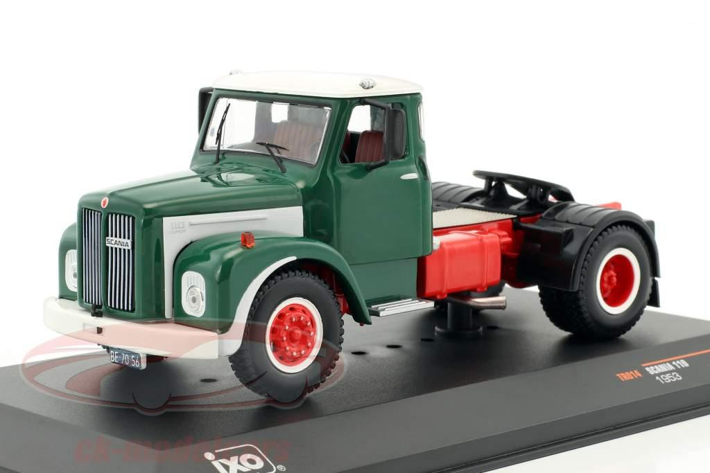 Scania 110 Zugmaschine Baujahr 1953 grün / weiß 1:43 Ixo