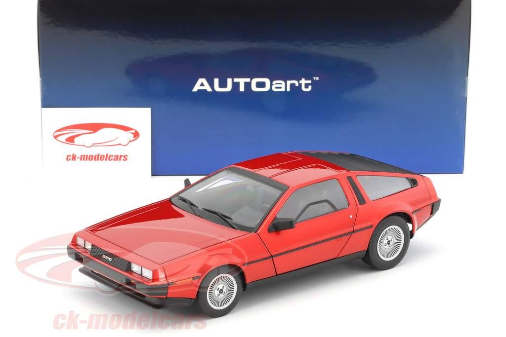 De Lorean DMC-12 ano de construção 1981 vermelho metálico 1:18 AUTOart