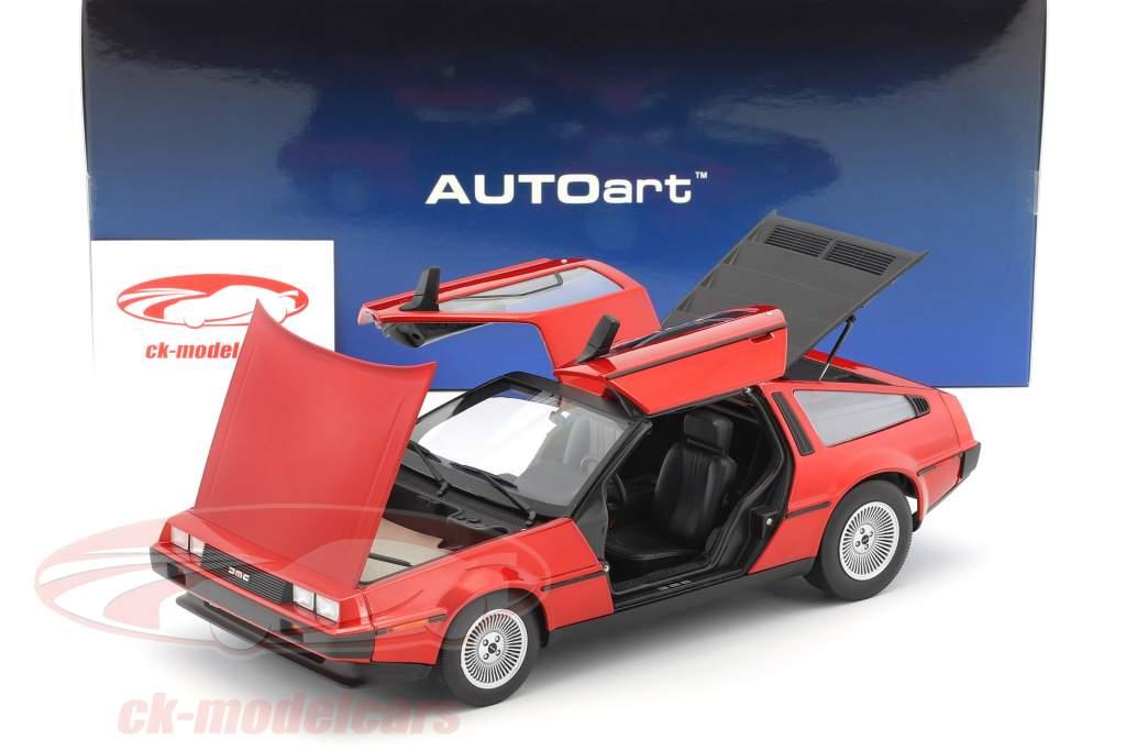 De Lorean DMC-12 Baujahr 1981 rot metallic 1:18 AUTOart
