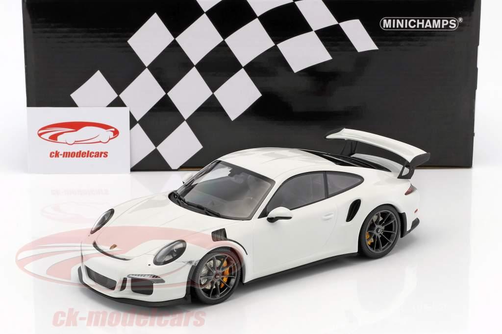 Porsche 911 (991) GT3 RS Baujahr 2015 weiß mit schwarzen Felgen 1:18 Minichamps