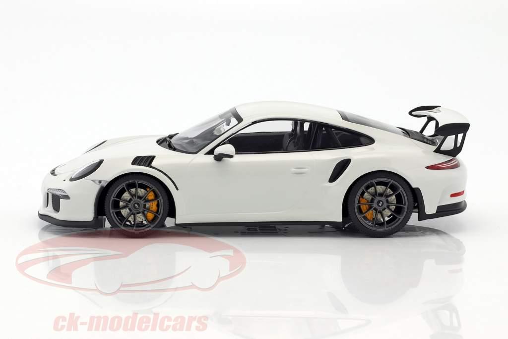 Porsche 911 (991) GT3 RS année de construction 2015 blanc avec noir jantes 1:18 Minichamps