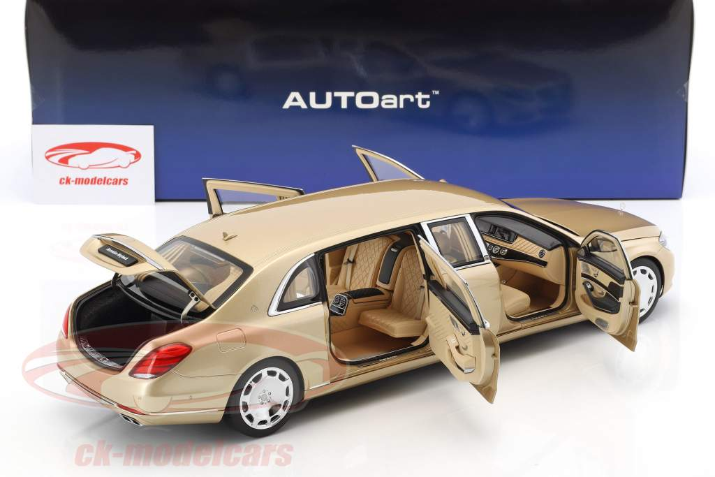 Mercedes-Benz Maybach S 600 Pullman year 2016 gold 1:18 AUTOart