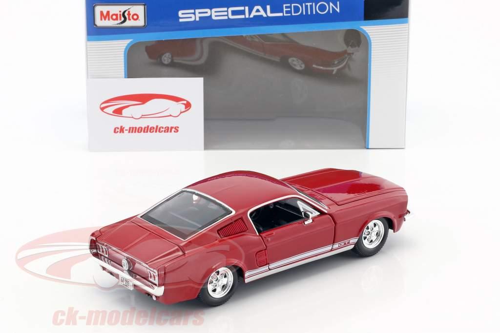 Ford Mustang GT Baujahr 1967 rot 1:24 Maisto