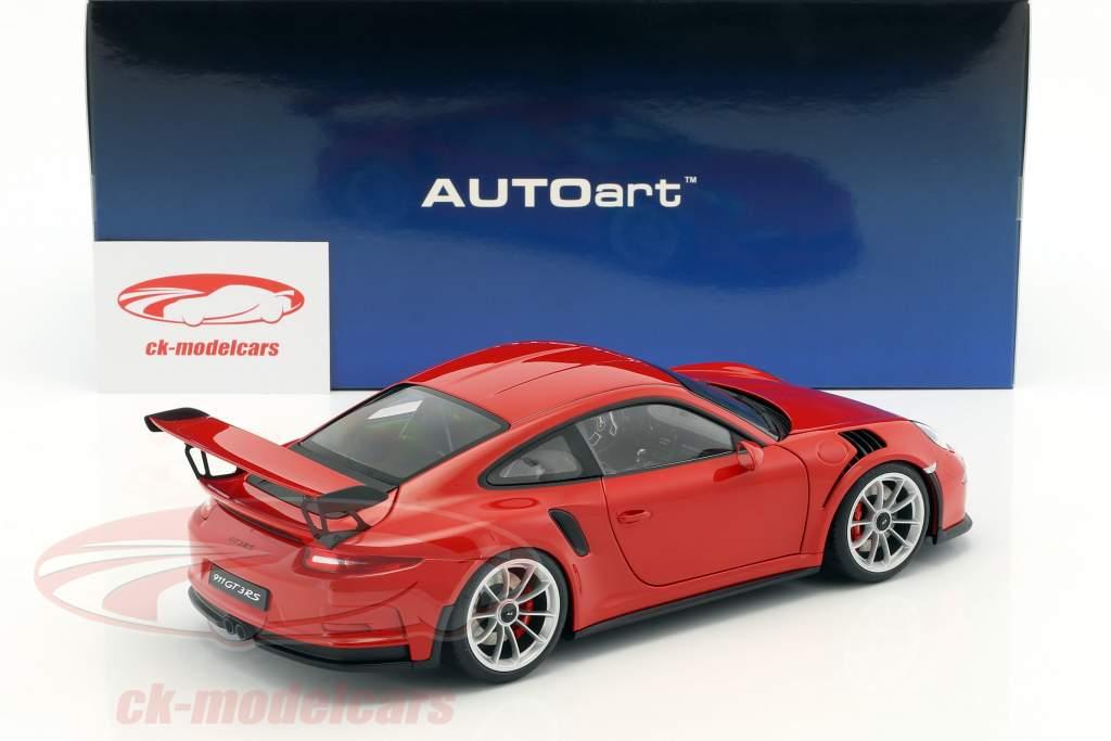 Porsche 911 (991) GT3 RS année de construction 2016 rouge avec argent roues 1:18 AUTOart