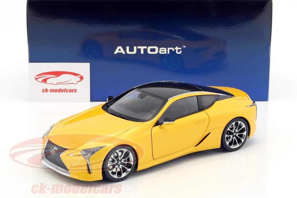 Autoart 1 18 Lexus Lc 500 Yellow Metallic 78847 Model Car 674110788471