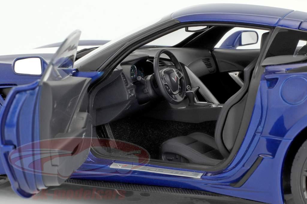 Chevrolet Corvette C7 Grand Sport Opførselsår 2017 blå med hvid striber 1:18 AUTOart